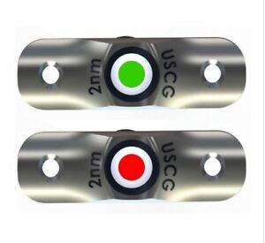TACO MARINE RUB RAIL MOUNTED LED NAVIGATION LIGHT SET 2-1/2'' F38-6800D