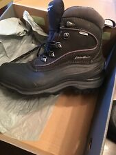 Eddie Bauer Womens Black Snowfoil Waterproof Boot 6.5