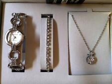 Cote d' Azur Ladies Dress Wristwatch Bracelet Necklace SLVR NEW NIBWT