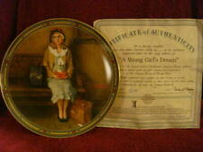 """Knowles Limited Edition """"A Young Girl's Dream"""" Norman Rockwell Plate (#538C)"""