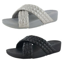 Fitflop Womens Lulu Padded Shimmy Suede Slide Sandal Shoes
