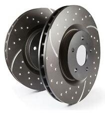 GD616 EBC Turbo Grooved Brake Discs Front (PAIR) for Escort Mk5 Escort Mk6 Orion