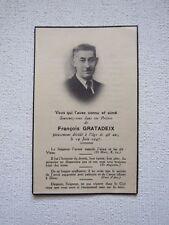 IMAGE MORTUAIRE : François GRATADEIX, 1947