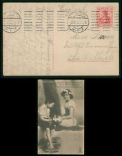 Mayfairstamps Germany 1910 Hannover to South Shields Boy Girl With Flowers Postc