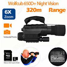 Handheld X6 Wolfcub Monocular Telescope Night Vision IR Sony CCD Energy Saving