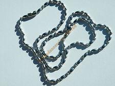 Chaine Longue 61 cm Acier Inox Boule Strié Haricot 3 mm