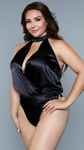 Womens Plus Size Paige Satin Teddy
