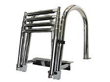 Telescoping Stainless Steel Boat 4 Step Pontoon Ladder Dock Ladder 316 Stainless