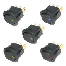 Wippschalter rund EIN-AUS 12V LED beleuchtet 12 Volt mini Schalter KFZ &Co