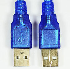 USB 2.0 A Male to USB 2.0 Male Extension Cable 30cm/1FT High Speed Blue