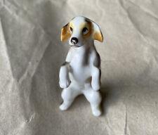 Vintage Porcelain Dog, Standing On Back Feet