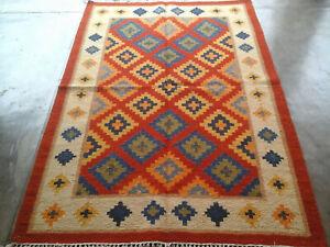 Afghan Rug Kilim Rug 4x6 feet Tribal Moroccan Rug Turkish Kilim Afghan Rug