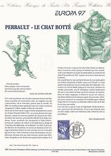 Document Philatélique Timbre 1er Jour : 26/04/ 1997 - Europa Le Chat Botté