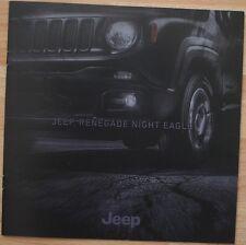 Rare Catalogue Jeep Renegade Night Eagle - 12/2015 - France - 10p