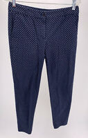 Talbots The Weekend Chino Navy Blue Polka Dot Pants Size 2
