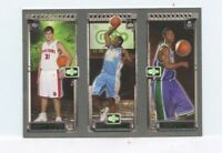 CARMELO ANTHONY / CHRIS BOSH / DARKO MILICIC 2003-04 Topps  Matrix Rookie Card