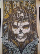 Baroness Concert Poster Bzian Baizley 2008 Tour Signed Silk Screen print