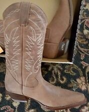 Womens Boterine Botas Colombian Brown Leather Western Cowboy Boots Size 10 New