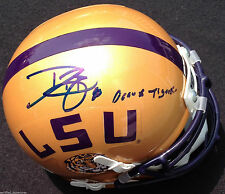 DWAYNE BOWE SIGNED LSU TIGERS HELMET GEAX TIGERS INSCR LOUISIANA STATE PROOF J5