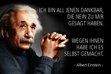 Albert Einstein Spruch 55 Blechschild Schild gewölbt Metal Tin Sign 20 x 30 cm