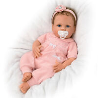 "SO TRULY ASHTON DRAKE SILICONE 18"" COOING CHLOE BREATHING BABY DOLL LINDA MURRAY"