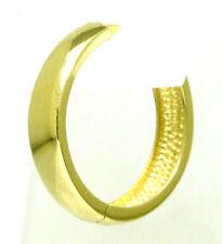 Single Creole Herren Klappcreole einzel Ohrring 585 Gold 17,8 mm Durchmesser Neu