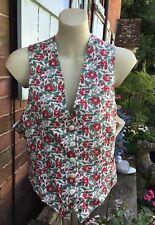 Vintage Liberty  Floral Print Waistcoat Size Medium M