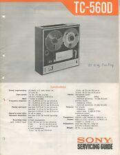 Sony TC-560D Original Service Manual