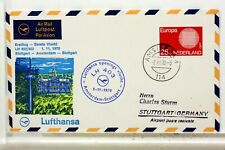 LUFTHANSA FIRST FLIGHT 1° VOL 1970 AMSTERDAM STUTTGART   COVER F32