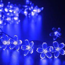 50 Flower Blossom LED String Light Wedding Party Fairy Solar Lamp Outdoor Indoor