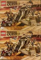 LEGO 7327 7307 Pharaohs Quest Scorpion Pyramid & Plane Instruction Manuals ONLY