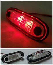 8 X LED RED FLUSH MARKER LIGHT 24V FOR KELSA BARS SCANIA MAN DAF VOLVO MERCEDES