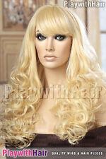 Lush Thick Long Bouncy Heat Friendly Wig Platinum Blonde