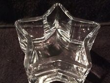 """Bowl Star Shaped Clear Glass 5"""" across, 3"""" tall"""