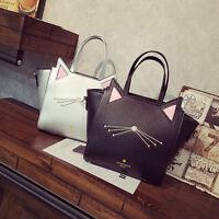 Women Cute Cat Shoulder Bag Handbag Tote Messenger Crossbody Bags Satchel Purse