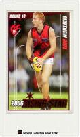 2007 Herald Sun AFL Trading Cards Risingstar Nominee RS18 Matthew Bate (Melb)