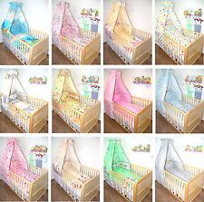 Baby Bettset 6T mit Chiffon oder Vollstoff Himmel, Bettwäsche, Nestchen