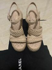 chanel wedge sandals