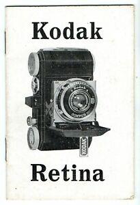 Kodak Retina Kamera Gebrauchsanleitung Deutsche Ausgabe