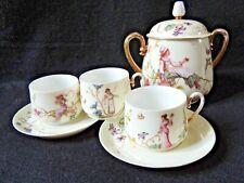 Partie de Service à Café 1900 Tasse & Sucrier femme ART NOUVEAU Jugendstil