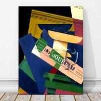 """JUAN GRIS Art - Grapes CANVAS PRINT 12x8"""" - Cubist, Cubism, Fruit"""