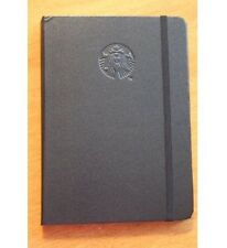 New STARBUCKS JOURNAL Black Hardcover Paper Diary NoteBook Blank Lined Pages