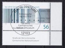 BRD 2002 gestempelt ESST Berlin Eckrand MiNr. 2269 Germanisches Nationalmuseum