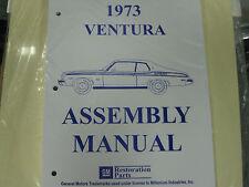 1973 PONTIAC VENTURA (ALL MODELS) ASSEMBLY MANUAL