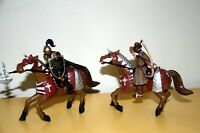 LOTTO Schleich Medioeval World ☆ Cavaliere e Barbaro a Cavallo ☆ ►NEW◄ PERFECT