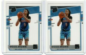 2 Ct 2020-21 Clearly Donruss MOSES BROWN #54 Rookie RC Lot Thunder Celtics