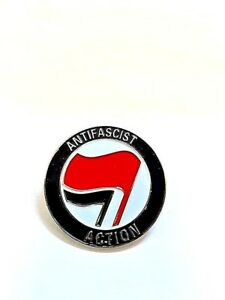 Antifa Enamel Pin Badge - AFA Anti Fascist Action Marxist Socialist Communist