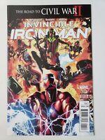 INVINCIBLE IRON MAN #11 (2016) MARVEL COMICS THE ROAD TO CIVIL WAR II BENDIS!