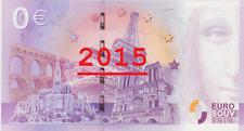 Billets souvenir zero euro Collection 2015