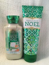 Bath and Body Works Vanilla Bean Noel Ultra Shea Body Cream and Lotion Set